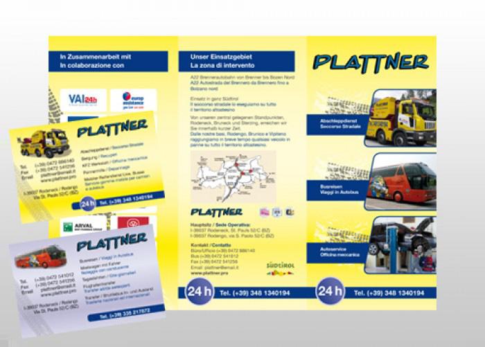Abschleppdienst Plattner Faltblatt