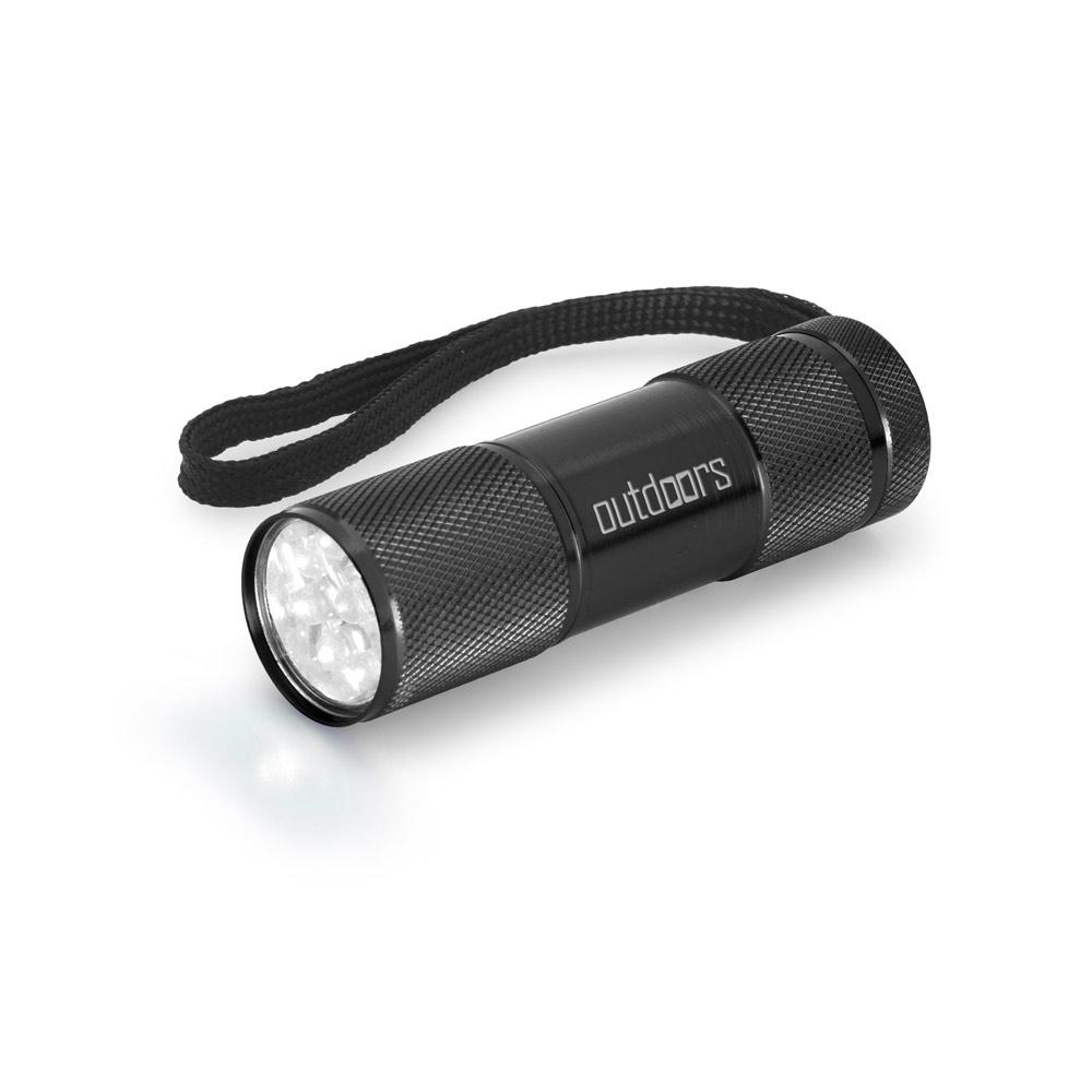 Aluminium Taschenlampe; 9 LEDs