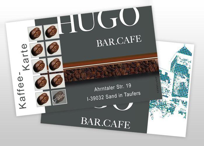 Bar Hugo Kaffeekarte