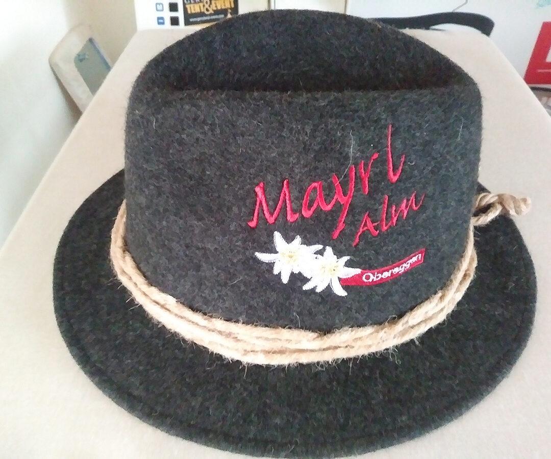 Bestickte Filzhüte Mayrl Alm