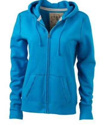 Blauer Pullover mit Reisverschluss