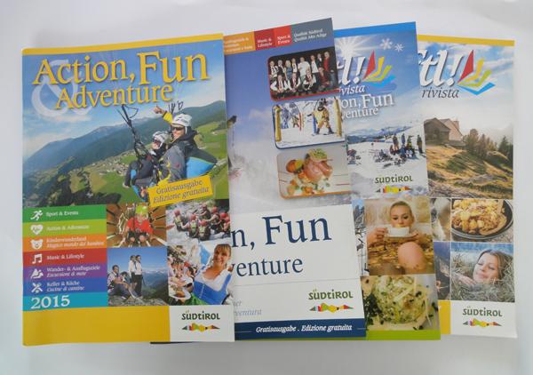 Broschüren und Magazine Heftl