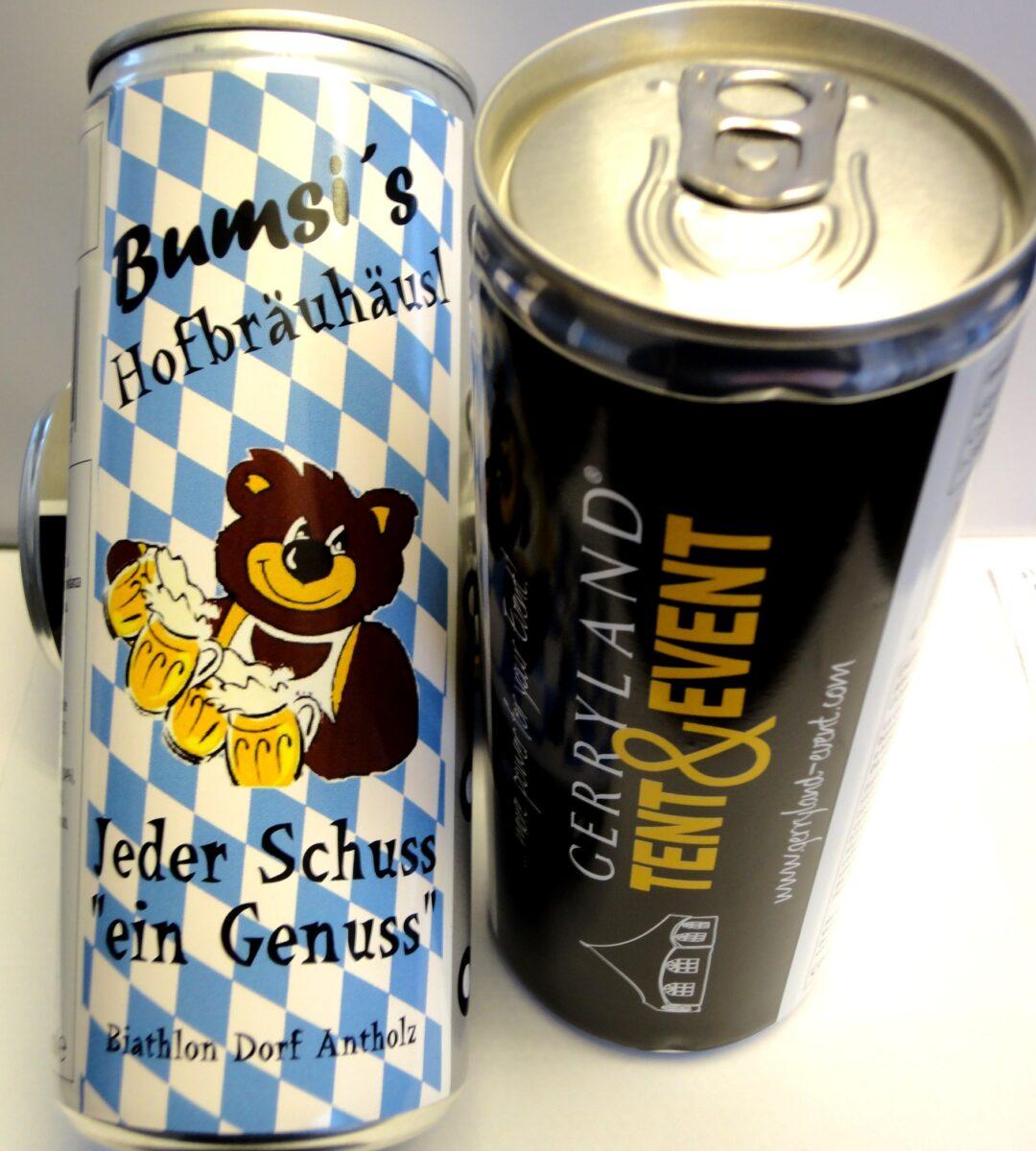Drinks - personalisierte Getränkedosen