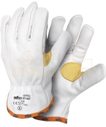 Lederhandschuh mit Daumenverstärkung und Saum