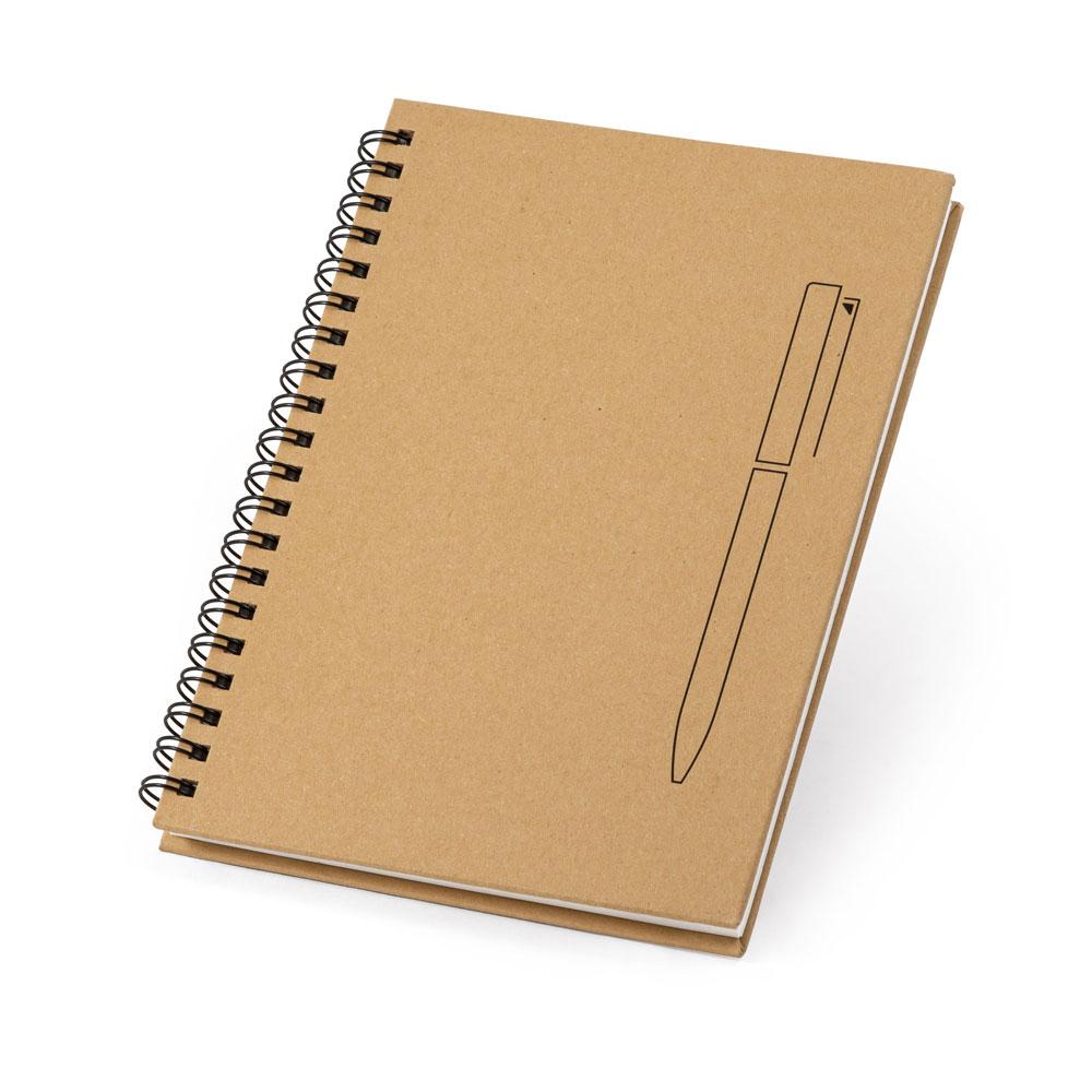 Notizblock B6 - Hardcover & Kraftpapier