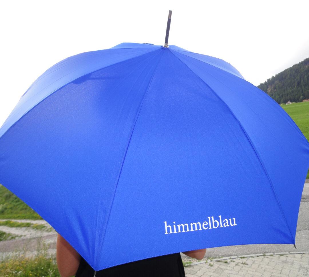 Regenschirm Himmelblau