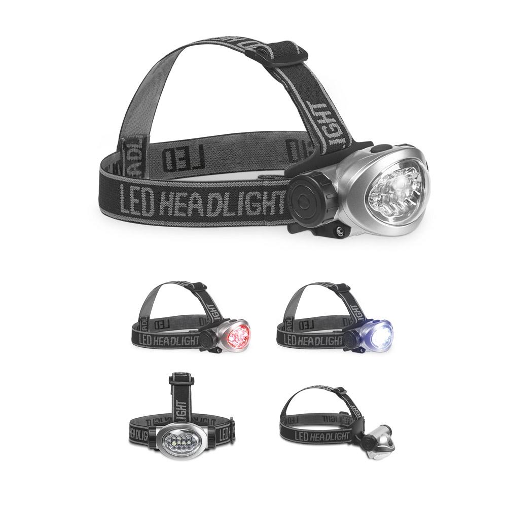 Stirnlampe - verstellbares Gummiband 8 weisse LEDs
